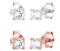 Ohrringe 2er Ohrstecker Set Swarovski® Kristalle 925 Silber