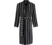 Bademantel Kimono Streifen 2612 schwarz - 97
