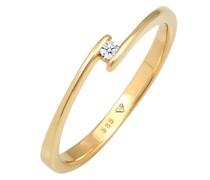 Ring Verlobungsring Diamant (0.03 ct.) 585 Gelbgold