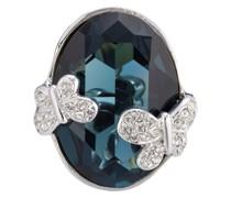 Ring Schmetterling Messing verziert mit Kristallen von Swarovski® Modeschmuckring
