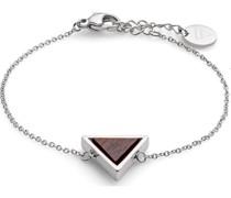 -Armband Edelstahl, Holz Silber 32002939