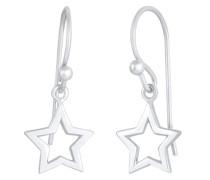 Ohrringe Hänger Stern Astro Basic 925 Silber