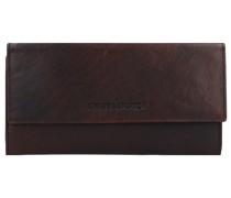 Geldbörse RFID Leder 19 cm Portemonnaies Braun
