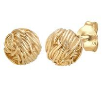 Ohrringe Kreis Ball Verdreht Geo Organic Look 925 Silber