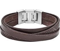 -Herrenarmband Leder Braun 32001817