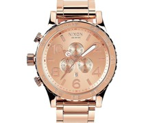Unisex-Uhren Rund Analog Quarz One Size Edelstahl 32002498