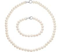 Pearls-Schmuck-Set 925er Silber Süßwasser One Size 87529461