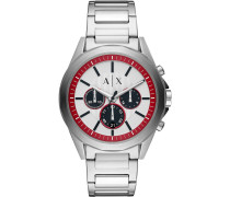 -Uhren Analog Quarz Silber/Schwarz Edelstahl 32000971
