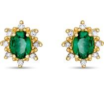 -Ohrstecker 585er Gelbgold 2 Smaragd One Size 87707113