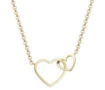 Halskette Herz Unendlichkeit Liebe 925 Sterling Silber