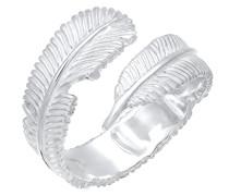 Ring Wickelring Feder Boho 925 Sterling Silber