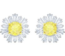 -Ohrstecker Metall Kristalle Weiß 32002127