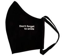 Black Don't Forget To Smile Mundschutz & Maske