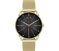 -Uhren Analog Quarz Silberfarben Edelstahl 32012586
