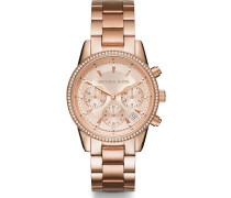 -Uhren Analog Quarz Rosé/Braun Rosé/Braun Edelstahl 32000762