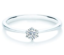 Ring Sterling Silber Diamant silber