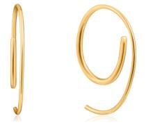 -Creolen Twist Through Sparkle 925er Silber Zirkonia One Size 32015321