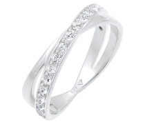 Ring Edel Wickelring Swarovski® Kristalle 925 Silber