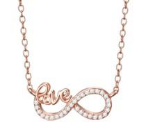 Halskette Love Sterling Silber Zirkonia silber