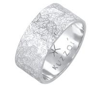 Ring Bandring Organic Struktur 925 Silber