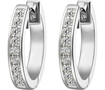 Silver-Ohrstecker 925er Silber 18 Zirkonia One Size 87485251