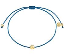 Armband Textil blau Sterling Silber gelbvergoldet