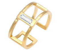 Ring Offen Geo Minimal Swarovski® Kristalle 925 Silber