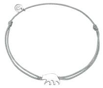 Armband Textil grau Sterling Silber