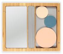 Small bamboo Magnetic Refillable Box Kosmetiktaschen & Beautycases Silber
