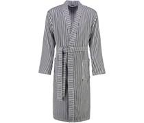 Bademantel Kimono Streifen 4829 schwarz-weiß - 96