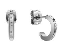 Unisex-Ohrstecker Edelstahl Silber 32014602