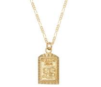 Halskette Figarokette Venus-Anhänger Vintage 925er Silber