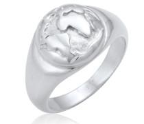 Ring Siegelring Globus Welt Reisen Trend 925 Silber