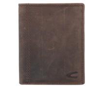Vietnam Geldbörse RFID Leder 12 cm Portemonnaies Braun
