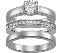 By CHRIST-Damenring Ring aus Sterling Silber 925er 41 Zirkonia 58 32005747