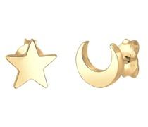 Ohrringe Basic Trend Astro Sterne Halbmond 925 Silber