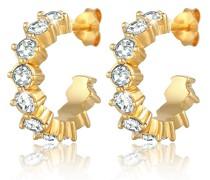 Ohrringe Funkelnde Creolen Kristalle 925 Silber