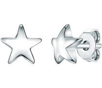 Ohrstecker Stern Sterling Silber silber