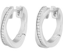 Silver-Creolen 925er Silber 34 Zirkonia One Size 87223183