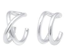 Ohrringe Basic Trend Set Earcuff Klemme Minimal 925 Silber