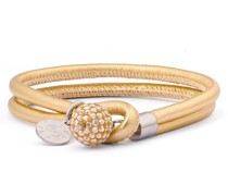 Armband Edelstahl Glas gelbgold