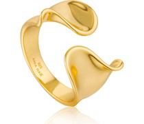-Damenring Twist Wild Adjustable ring 925er Silber Gold 32014197