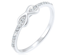 Ring Infinity Swarovski® Kristalle Edel Cute 925 Silber