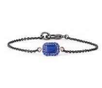 Armband Messing Resinsteine schwarz/roségold Modeschmuckarmband