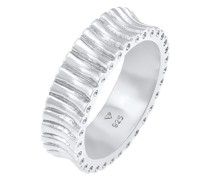 Ring Bandring Relief Struktur Trend Cool 925 Silber