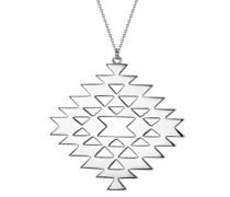 Halskette Geometrische Form Sterling Silber silber Silberhalskette