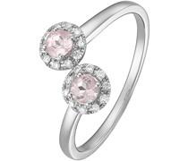 -Damenring 375er Weißgold 20 Diamant 58 32004836