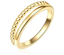 Ring Sterling Silber gelbgold Silberring