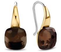 -Ohrhänger 925er Silber Kristall Gold/Braun 32014796