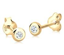 Ohrringe Basic Diamant (0.06 ct.) 925 Silber Geschenkidee